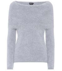Tom Ford Angora Blend Turtleneck Grey