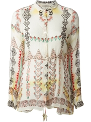 Etro Aztec Print Shirt Nude And Neutrals