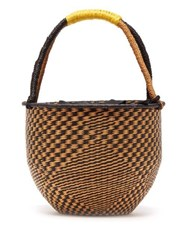 Sensi Studio Woven Basket Bag Black Multi