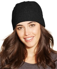 Charter Club Cable Cashmere Cuff Hat Only At Macy's Black