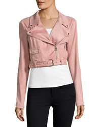 Highline Collective Faux Suede Moto Jacket Pink