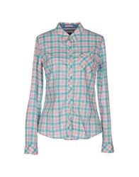 Tommy Hilfiger Denim Shirts Shirts Women Light Green