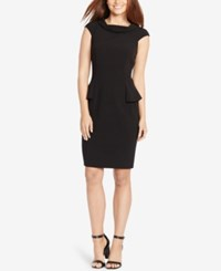 American Living Peplum Sheath Dress Black