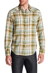 Lucky Brand Plaid Long Sleeve Regular Fit Western Shirt Brown