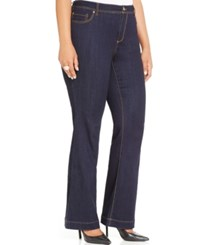 Inc International Concepts Plus Size Flared Jeans Indigo Wash Only At Macy's