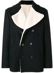 Golden Goose Deluxe Brand Double Breasted Fitted Coat Black
