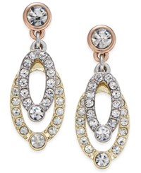 Charter Club Tri Tone Crystal Drop Earrings Only At Macy's Tri Tone