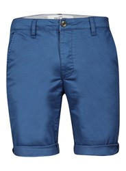 Topman Dark Blue Stretch Skinny Chino Shorts