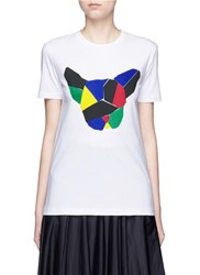 Etre Cecile 'Olympic Dog' Collage Print T Shirt Multi Colour