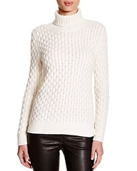 C By Bloomingdale's Cable Knit Turtleneck Sweater Winter White