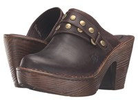 Born Marney Sand Full Grain Leather Women's Clog Shoes Beige