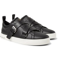 Valentino V Punk Leather Sneakers Black