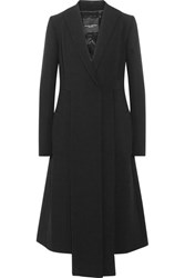 Narciso Rodriguez Wool Crepe Coat Black