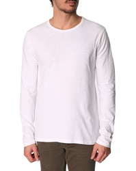 Hartford White Slubbed Long Sleeve T Shirt