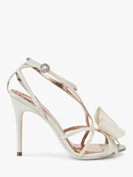 Ted Baker Arayis Bow Stiletto Heel Sandals Natural Ivory