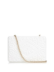 Anya Hindmarch Custard Cream Brass Clutch