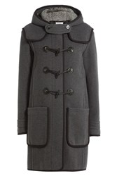 Carven Wool Duffle Coat Grey