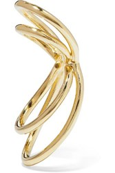 Jennifer Fisher Thread Gold Plated Ear Cuff One Size