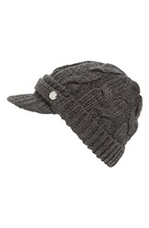Women's Michael Michael Kors Cable Knit Newsboy Hat Grey Derby