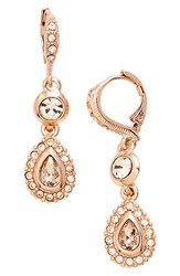 Women's Givenchy Jeweled Drop Earrings Rose Gold Silk
