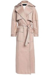 Michael Lo Sordo Belted Cotton Gabardine Trench Coat Neutral