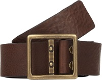 Caputo And Co Double Prong Slider Buckle Leather Belt Brown Size 30
