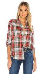 Frank And Eileen Button Down In Red. White Red Green And Black Plaid