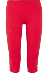 Falke Ergonomic Sport System Cropped Stretch Jersey Leggings Red