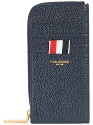 Thom Browne Half Zip Around Wallet With Contrast 4 Blue