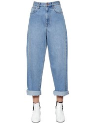Etoile Isabel Marant Cotton Denim Boyfriend Jeans Light Blue