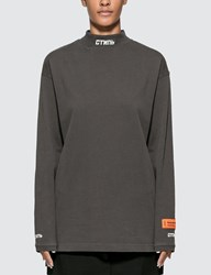 Heron Preston Ctnmb Long Sleeve T Shirt Brown