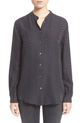 Women's Equipment 'Henri' Chevron Print Silk Shirt