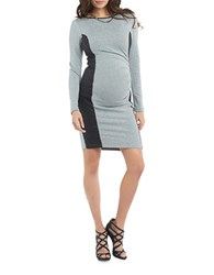 Tart Maternity Kennedy Vegan Leather Dress Grey