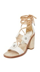 Rag And Bone Eden Lace Up Sandals Ivory