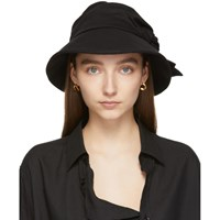 Y's Black Cotton And Linen Knot Hat
