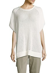 French Connection Fishermens Solid Ribbed Hem Top Summer White