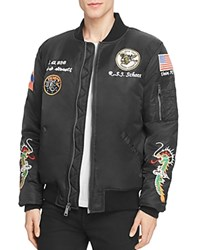 Schott West Pacific Souvenir Bomber Jacket Black