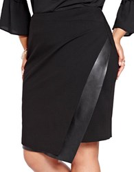 Addition Elle Michel Studio Plus Asymmetrical Wrap Skirt Black
