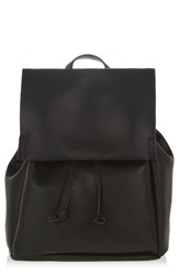 Topshop Brent Faux Leather Backpack Black