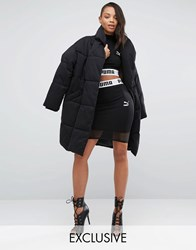 Puma Exclusive To Asos Cropped Mesh Skirt Co Ord Black