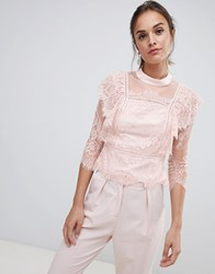 Coast Victoriana Lace Top Pink