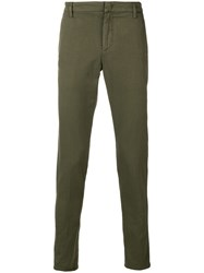 Dondup Slim Fit Trousers Green