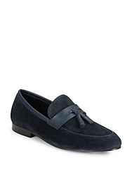 Saks Fifth Avenue Raymondo Slip On Suede Loafers Navy