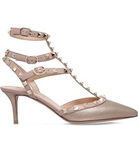 Valentino Rockstud 65 Leather Heeled Courts Bronze