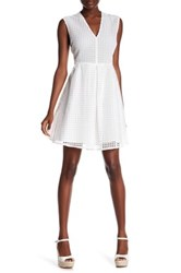 Sandro Lace Overlay Sleeveless Dress White