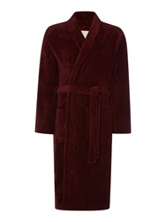 Linea Marl Fleece Mens Robe Burgundy