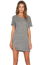 Monrow Vintage Burn Out Oversized Tee Shirt Dress Charcoal