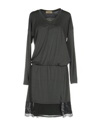 Just For You Knee Length Dresses Grey