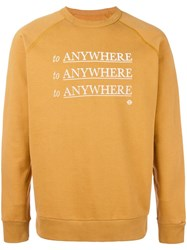 Roundel London 'To Anywhere' Sweatshirt Yellow Orange