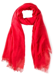 Vince Raw Edged Scarf Red
